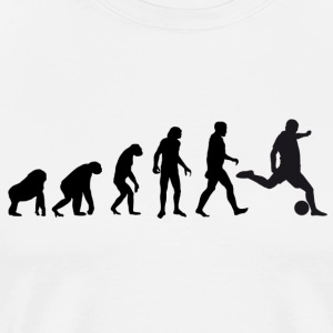 Football Evolution / Soccer evolution - White Edit - Men's Premium T-Shirt