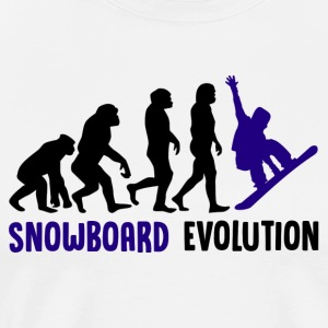 ++ ++ Snowboard Evolution - Premium T-skjorte for menn