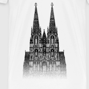 Around The World: Dom - Köln - Herre premium T-shirt