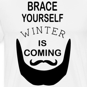 Brace Yourself Winter Is Coming Bart - Schwarz - Männer Premium T-Shirt