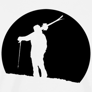 Lonely Skier - Men's Premium T-Shirt