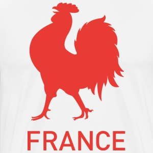 France Symbol Red Rooster - Men's Premium T-Shirt