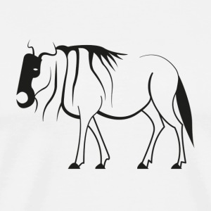 Pictogram of Wildebeest - Men's Premium T-Shirt