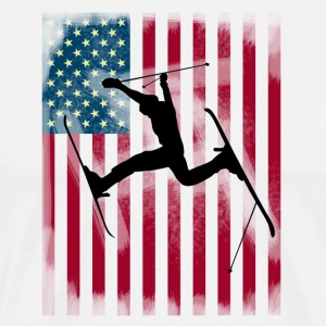 ski-jump stunt freestyle Bogner Team USA flag - Men's Premium T-Shirt
