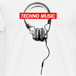 TECHNO Tee - Music Headphones Headphones 2017 - Men's Premium T-Shirt