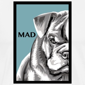MAD_DOG_BLUE - Herre premium T-shirt