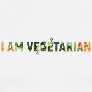 I am vegetarian - Men's Premium T-Shirt