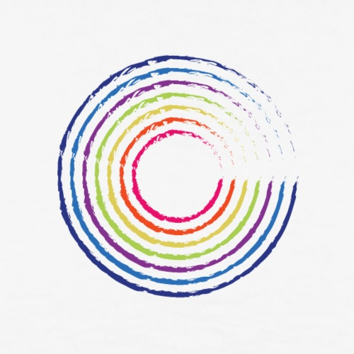 Kreis Regenbogen - Männer Premium T-Shirt