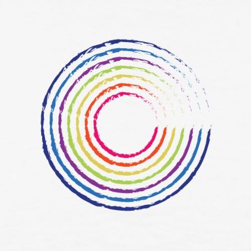 Arco iris del círculo - Camiseta premium hombre