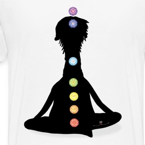 Alpaka beim Yoga /Chakra - Männer Premium T-Shirt
