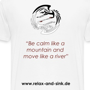 Be calm like a mountain... - Männer Premium T-Shirt