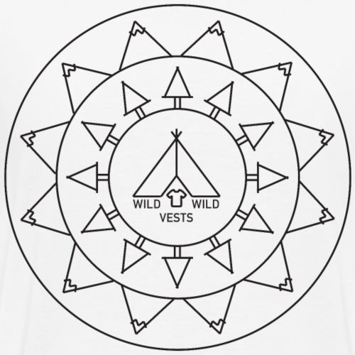 Wild Wild Vests Circle Graphic Tee - Men's Premium T-Shirt