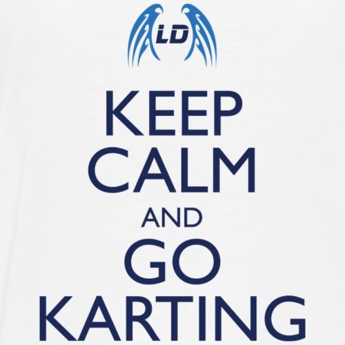 Keep Calm And Go Karting (White) - Men's Premium T-Shirt