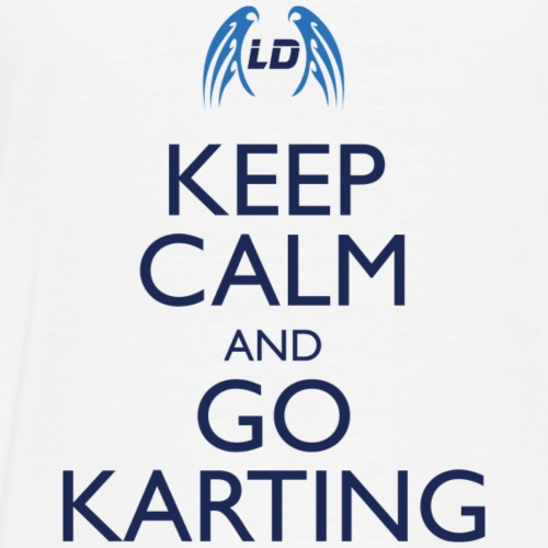 Keep Calm And Go Karting (White) - Men's Premium T-Shirt