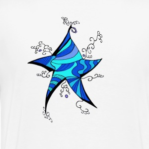Psychedelic star - T-shirt Premium Homme