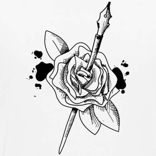 Rose plume - T-shirt Premium Homme