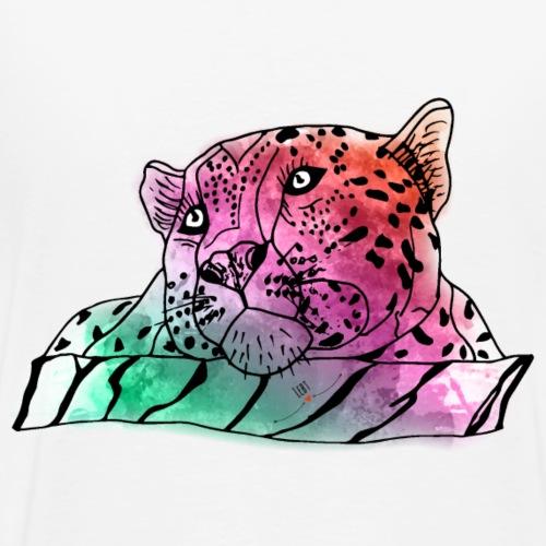 Krafttier Leopard - Tapferkeit & Stärke - Männer Premium T-Shirt