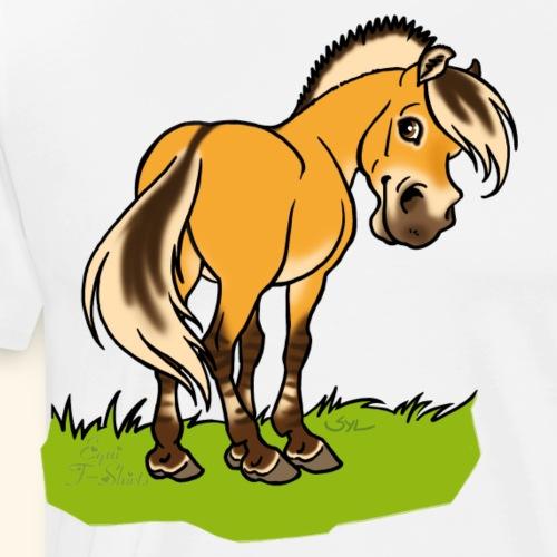 Freundliches Fjordpferd (Ohne Text) - T-shirt Premium Homme