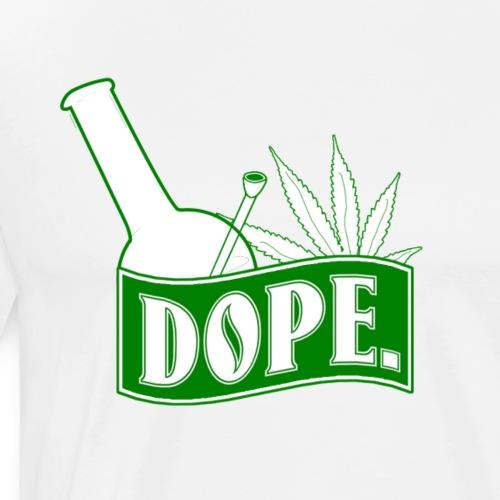 Dope Hookah Weed Blatt Kiffer Geschenk - Men's Premium T-Shirt