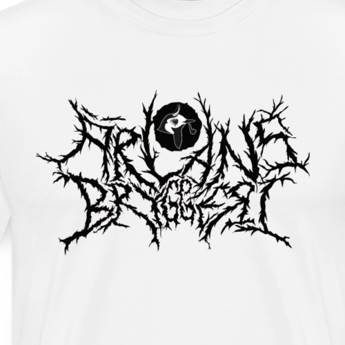 Ärlans Deathmetal Black print - Premium-T-shirt herr