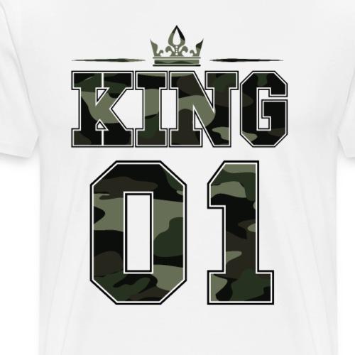 King 01 Partnerschaft Partnerlook Camouflage - Männer Premium T-Shirt