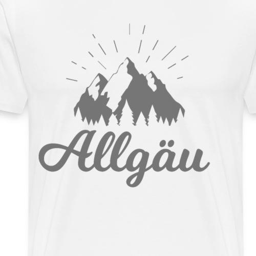 Allgäu Schriftzug mit Alpen