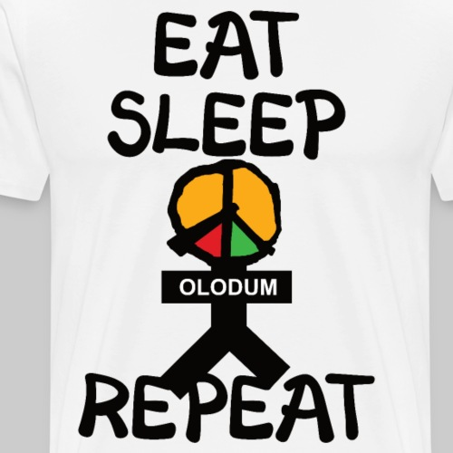eat sleep olodum repeat - Männer Premium T-Shirt