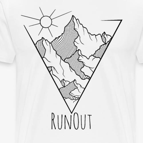 Klettern boulder runout karabinerseil berge Felsen - Männer Premium T-Shirt