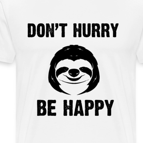 Be Happy - Männer Premium T-Shirt