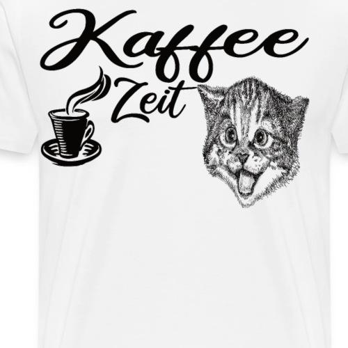 Kaffee Zeit schwarze Schrift - Männer Premium T-Shirt