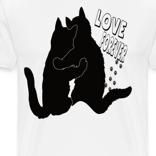 Katzenliebe Love Forever - Männer Premium T-Shirt