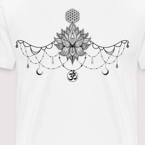 Schmuck Lotusblume Blume des Lebens und Om Zeichen - Männer Premium T-Shirt