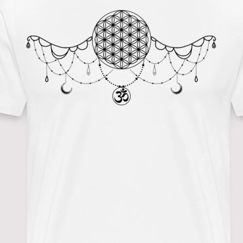 Kette mit Symbolen aus dem Buddhismus - Männer Premium T-Shirt