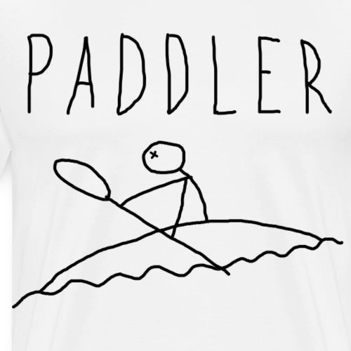 Paddler_black_negro - Camiseta premium hombre
