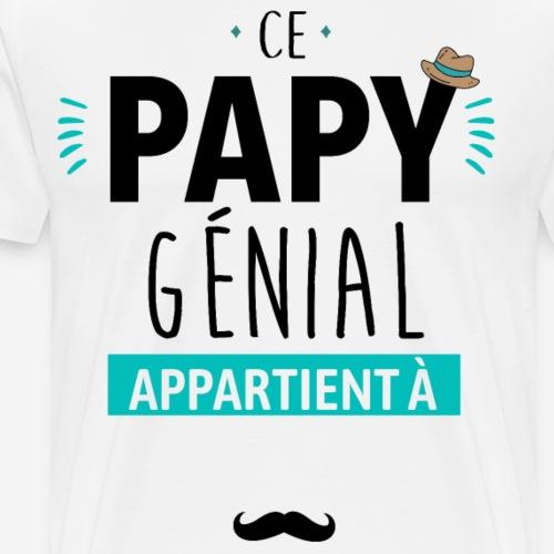 Ce papy genial ( à personnaliser ) - T-shirt Premium Homme