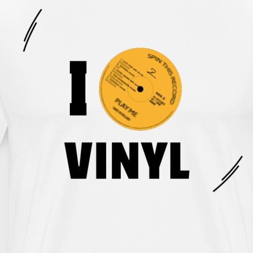 T-Record - I love vinyl! - Mannen Premium T-shirt