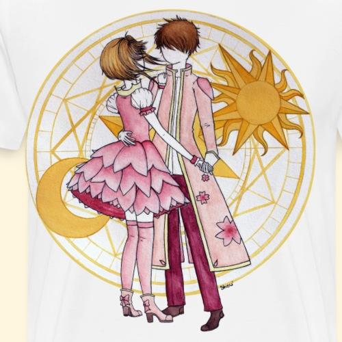 Sakura et Syaoran - T-shirt Premium Homme