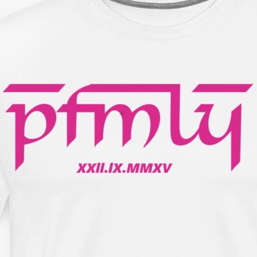 PaatoFamily mit Erstelldatum (pinkfont) - Männer Premium T-Shirt