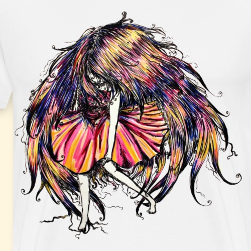 FacelessGirl flottante - Multicolore - T-shirt Premium Homme