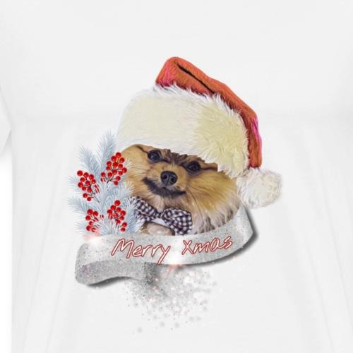 Pomeranian Shirt Weihnachtsshirt Xmas - Zwergspitz - Männer Premium T-Shirt