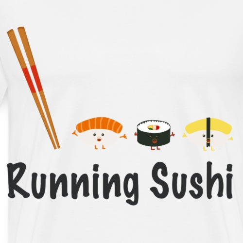 Running Sushi - Männer Premium T-Shirt
