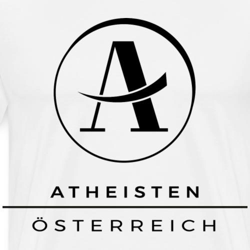 Atheisten Logo Schwarz - Männer Premium T-Shirt