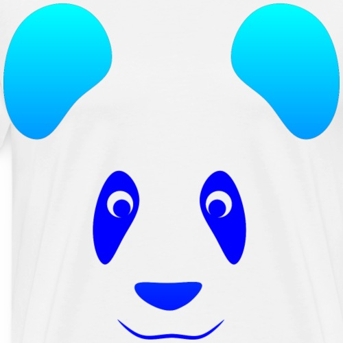 Happy Panda - Azul - Camiseta premium hombre