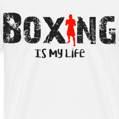 Boxing is my life - Mannen Premium T-shirt