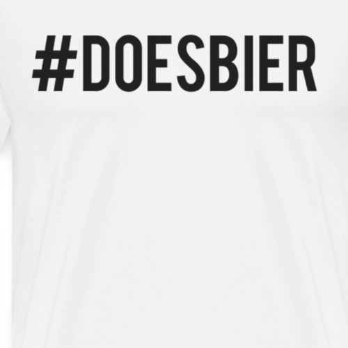 #Doesbier - Mannen Premium T-shirt