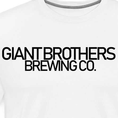 Giant Brothers Brewing co SVART - Premium-T-shirt herr