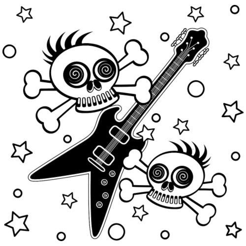 Heavy Metal Skulls - Men's Premium T-Shirt