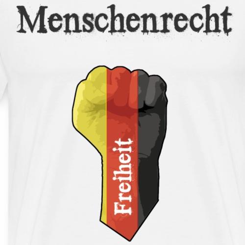 Menschenrecht und Freiheit - schwarz, rot, gold