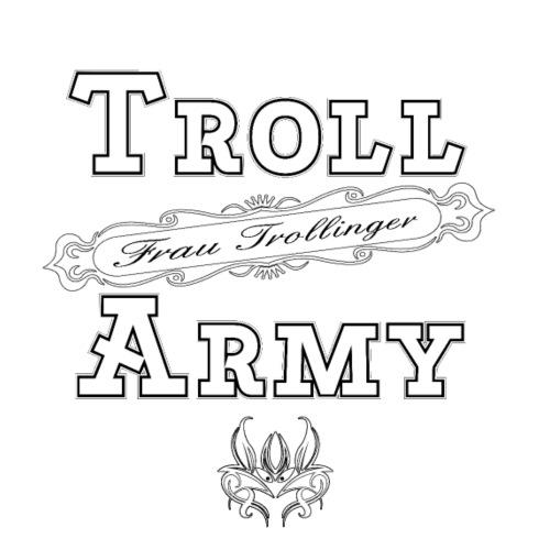 Troll Army Frau Trollinger in schwarz / weiss - Männer Premium T-Shirt