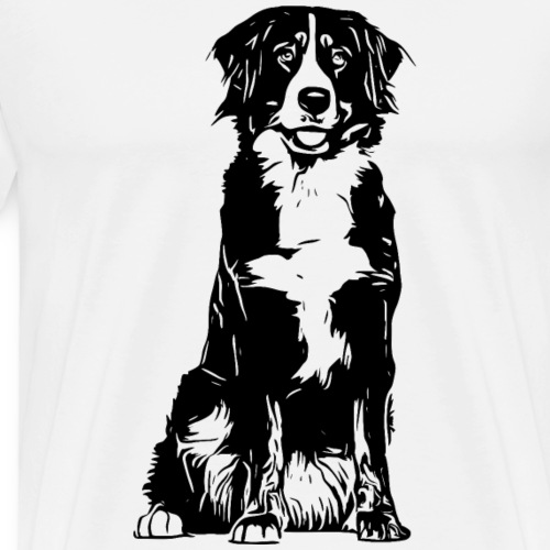 Berner Sennenhund Hunde Design Geschenkidee - Männer Premium T-Shirt